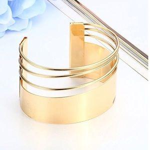 Hollow Hoop Open Ended Bracelet